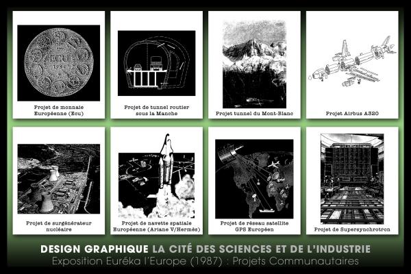 Looktrope Design Graphique Événementiel Exposition Eureka l'Europe
